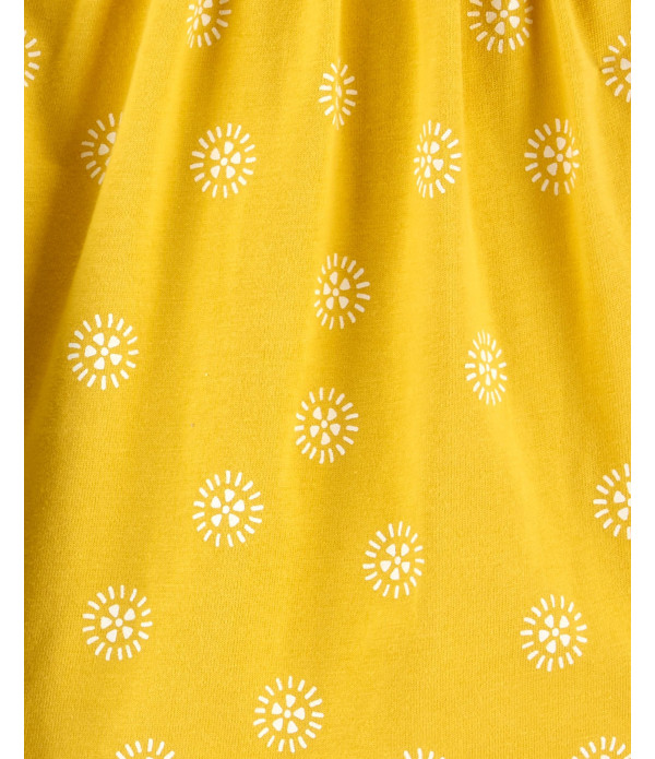 Conjunto Carter's 2 Peças Verão Romper e Vestido Feminino Amarelo